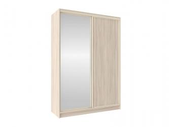 Шкаф-купе Домашний с зеркалом 1600 Шимо светлый