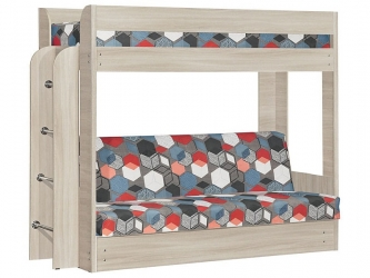 Диван-кровать двухъярусная Элегия Ясень шимо-Geometry slat
