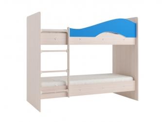 Двухъярусная кровать Мая дуб синий