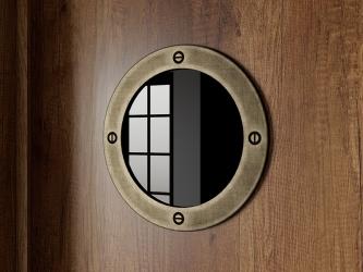 Иллюминатор декоративный Навигатор ТД 250.07.20-01 ШхВхГ 200х200х6 мм