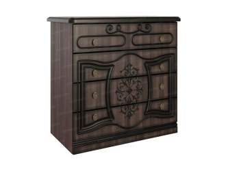 Комод с 4 ящиками Жасмин ясень шимо темный-текстура шамони