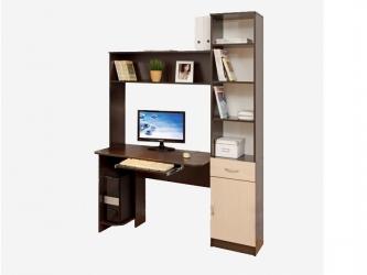 Компьютерный стол Интел-2 Бодега темный-Бодега светлый