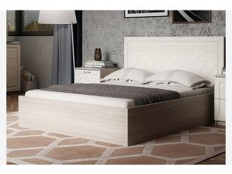 Кровать 1600 М9 Париж Ясень шимо светлый-силк-тирамису