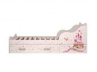 Кровать 900 с ящиками Принцесса 05-1