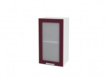 Кухня Мария шкаф верхний 400 со стеклом ШВС 400 ШхВхГ 400x716x314 мм