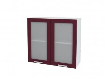 Кухня Мария шкаф верхний 800 со стеклом ШВС 800 ШхВхГ 800x716x314 мм