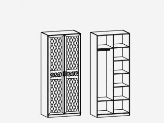Шкаф 2-х дверный многофункциональный М3 Париж Ясень шимо светлый-силк-тирамису