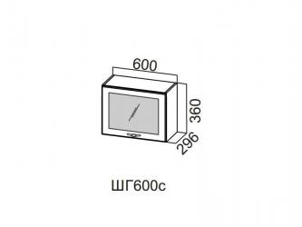 Шкаф навесной горизонтальный со стеклом 600 ШГ600с-360 360х600х296мм Прованс