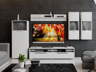 Модульная гостиная Наоми Белый глянец