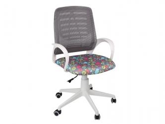 Кресло детское Ирис White сетка W черная-Т57 сладости