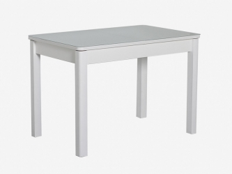 Стол раздвижной Айсберг-01 СТ белый-стекло белое