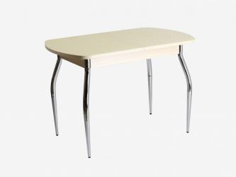 Стол раздвижной ПГ-01 СТ дуб молочный-стекло Созвездие песочное