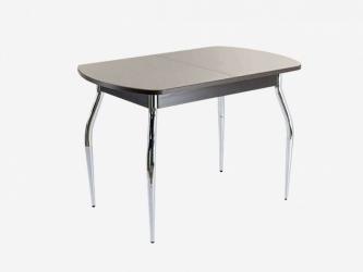 Стол раздвижной ПГ-01 СТ венге-стекло капучино